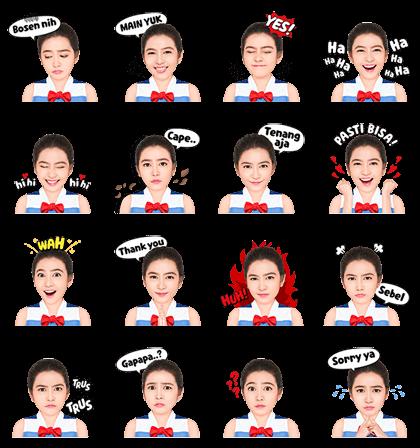 Sail Away with Veranda JKT48 Line Sticker GIF & PNG Pack: Animated & Transparent No Background | WhatsApp Sticker