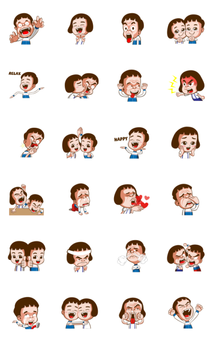 School Funny Daily Life Stickers Line Sticker GIF & PNG Pack: Animated & Transparent No Background   WhatsApp Sticker