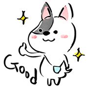 Shinkenzemi Plus Lax & Cute Tamamaru Sticker for LINE & WhatsApp | ZIP: GIF & PNG