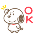 Snoopy: Round Boy Sticker for LINE & WhatsApp | ZIP: GIF & PNG