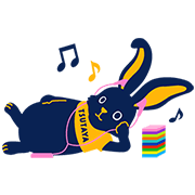 TSUTAYA Erabo-Usagi Sticker for LINE & WhatsApp | ZIP: GIF & PNG