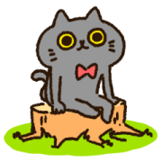 Tango of a Black Cat Sticker for LINE & WhatsApp | ZIP: GIF & PNG