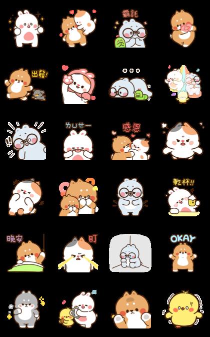 Tonton Friends: Pop-Ups Line Sticker GIF & PNG Pack: Animated & Transparent No Background | WhatsApp Sticker