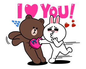 TrueMove H Fun Fest with Brown & Cony Sticker for LINE & WhatsApp | ZIP: GIF & PNG