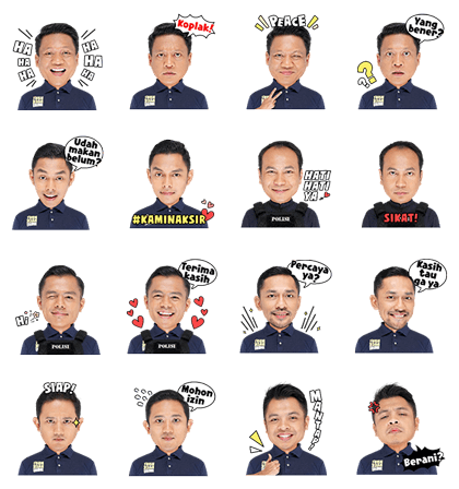 Turn Back Crime Indonesia Line Sticker GIF & PNG Pack: Animated & Transparent No Background | WhatsApp Sticker