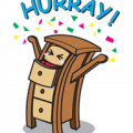 Vern the top-drawer Sticker for LINE & WhatsApp | ZIP: GIF & PNG