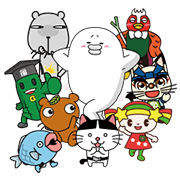 Yarukinashio and Friends Sticker for LINE & WhatsApp | ZIP: GIF & PNG