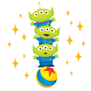 Alien Remix Big Stickers Sticker for LINE & WhatsApp | ZIP: GIF & PNG