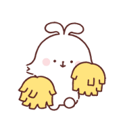 Angora Rabbit Sticker for LINE & WhatsApp | ZIP: GIF & PNG