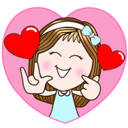 CandyGirl—Sending Smile (Animated+Sound) Sticker for LINE & WhatsApp | ZIP: GIF & PNG