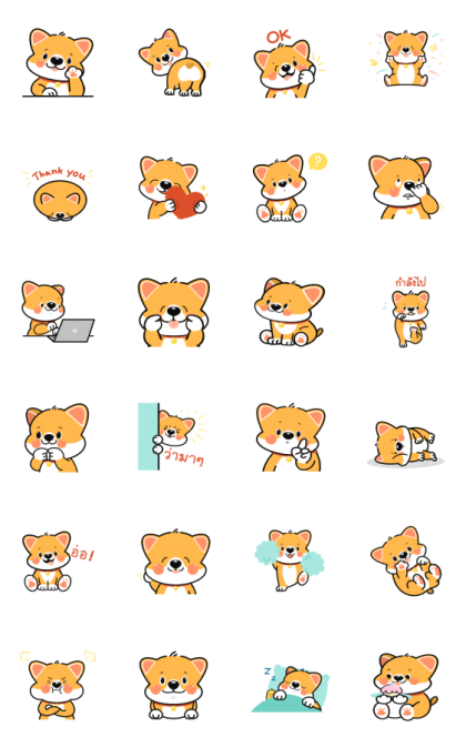 Chubby Bobby: DukDik Line Sticker GIF & PNG Pack: Animated & Transparent No Background | WhatsApp Sticker