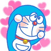 Doraemon Moving Backgrounds Sticker for LINE & WhatsApp | ZIP: GIF & PNG