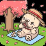 French Bulldog-PIGU XVI Effect Sticker Sticker for LINE & WhatsApp | ZIP: GIF & PNG
