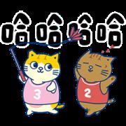 Fumeancats-Bu shian dong! Sticker for LINE & WhatsApp | ZIP: GIF & PNG