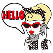 Girl's Chic Chic Life Sticker for LINE & WhatsApp   ZIP: GIF & PNG