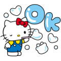Hello Kitty Moving Backgrounds Sticker for LINE & WhatsApp | ZIP: GIF & PNG