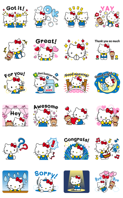 Hello Kitty Moving Backgrounds Line Sticker GIF & PNG Pack: Animated & Transparent No Background | WhatsApp Sticker