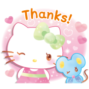 Hello Kitty's Watercolors (Summer) Sticker for LINE & WhatsApp | ZIP: GIF & PNG