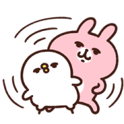 Kanahei's Piske & Usagi Come to Life! 5 Sticker for LINE & WhatsApp | ZIP: GIF & PNG