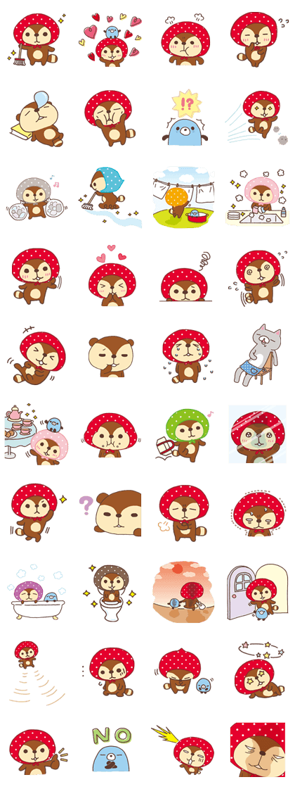 Kireizukin seikatu Line Sticker GIF & PNG Pack: Animated & Transparent No Background | WhatsApp Sticker
