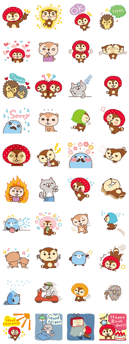 Kireizukin seikatu's Carefree Days Line Sticker GIF & PNG Pack: Animated & Transparent No Background | WhatsApp Sticker