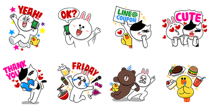 Let's Go LINE@! Line Sticker GIF & PNG Pack: Animated & Transparent No Background | WhatsApp Sticker
