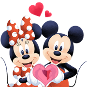 Mickey and Friends Moving Backgrounds Sticker for LINE & WhatsApp | ZIP: GIF & PNG