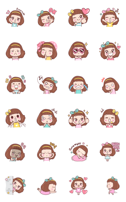 Miedie Emotion Line Sticker GIF & PNG Pack: Animated & Transparent No Background | WhatsApp Sticker