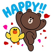 Oh Happy Day! Sticker for LINE & WhatsApp | ZIP: GIF & PNG