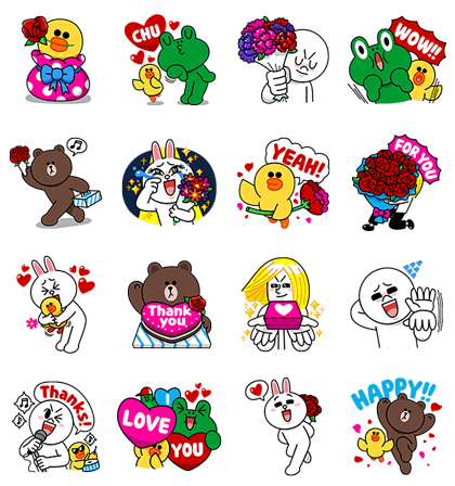 Oh Happy Day! Line Sticker GIF & PNG Pack: Animated & Transparent No Background | WhatsApp Sticker