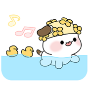 SUMMER TIME! Pompom Friends! Sticker for LINE & WhatsApp | ZIP: GIF & PNG