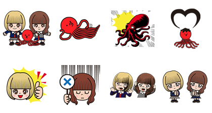 Tako & Renshiba: Animated Stickers Line Sticker GIF & PNG Pack: Animated & Transparent No Background | WhatsApp Sticker