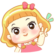 Biscuit Cute Girl Sticker for LINE & WhatsApp | ZIP: GIF & PNG