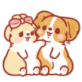 Corgi KaKa: Sweet Couple Daily Vol. 2 Sticker for LINE & WhatsApp | ZIP: GIF & PNG