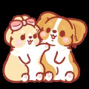 Corgi KaKa: Sweet Couple Daily Vol. 2 Sticker for LINE & WhatsApp | ZIP: GIF & PNG
