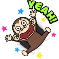 Funny Monkey Moving Backgrounds Sticker for LINE & WhatsApp | ZIP: GIF & PNG