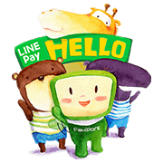 LINE Pay × FamilyMart Sticker for LINE & WhatsApp | ZIP: GIF & PNG