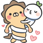 LaiLai & ChiChi All about LOVE Sticker for LINE & WhatsApp | ZIP: GIF & PNG
