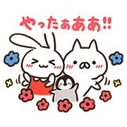 MIMI-chan × Penguin and Cat Days Sticker for LINE & WhatsApp   ZIP: GIF & PNG