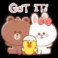 MINI BROWN & FRIENDS Sticker for LINE & WhatsApp | ZIP: GIF & PNG