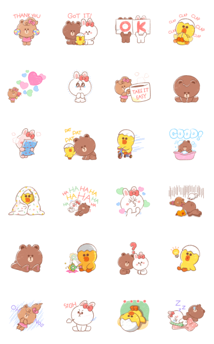 MINI BROWN & FRIENDS Line Sticker GIF & PNG Pack: Animated & Transparent No Background | WhatsApp Sticker