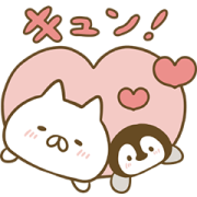 Penguin and Cat Days Moving Backgrounds Sticker for LINE & WhatsApp | ZIP: GIF & PNG