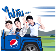Pepsi Summer Moment Sticker for LINE & WhatsApp | ZIP: GIF & PNG