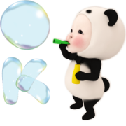 Pop-Up Panda Towel Sticker for LINE & WhatsApp | ZIP: GIF & PNG