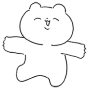 Too Much Kindness Bear Sticker for LINE & WhatsApp | ZIP: GIF & PNG