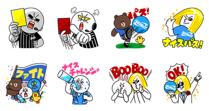 AQUARIUS × LINE Characters Line Sticker GIF & PNG Pack: Animated & Transparent No Background | WhatsApp Sticker