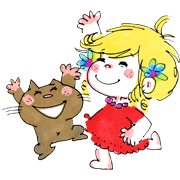 Ado Mizumori 2: Happy Girls! Sticker for LINE & WhatsApp | ZIP: GIF & PNG