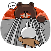Attack on Brown Sticker for LINE & WhatsApp | ZIP: GIF & PNG