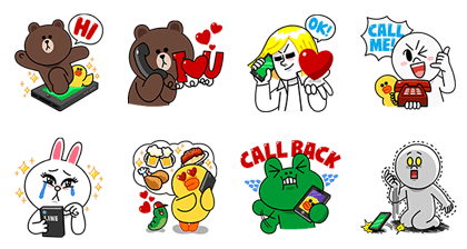 Cheap Calls with LINE Call Line Sticker GIF & PNG Pack: Animated & Transparent No Background   WhatsApp Sticker