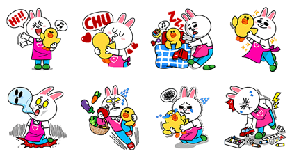 Cony's Motherly Life Line Sticker GIF & PNG Pack: Animated & Transparent No Background | WhatsApp Sticker
